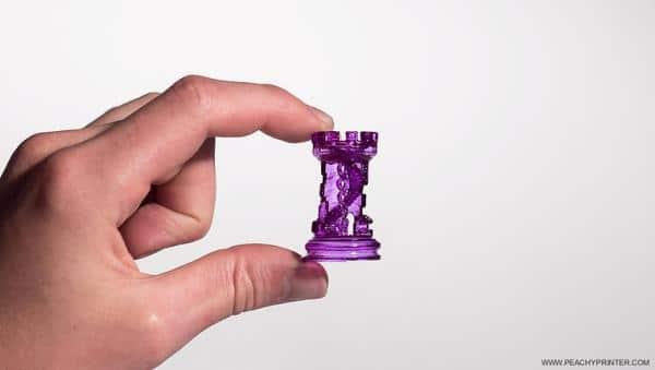 Pionek szachowy powstały na Peachy Printer